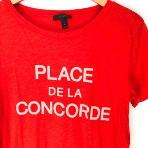 "J. Crew Tops - J. Crew ""Place De La Concorde"" Paris Graphic Tee S"
